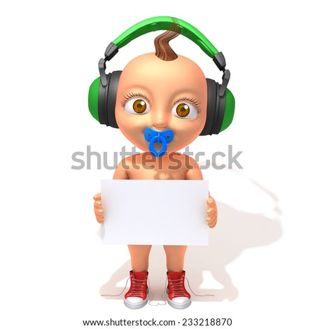 Baby Jake hip hop with white panel - stock photo