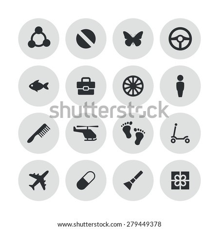 baby, kids icons universal set for web and mobile - stock photo
