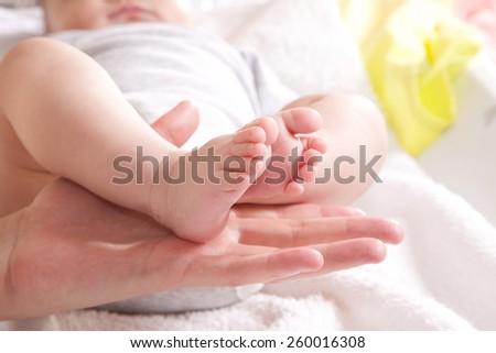 baby legs - stock photo