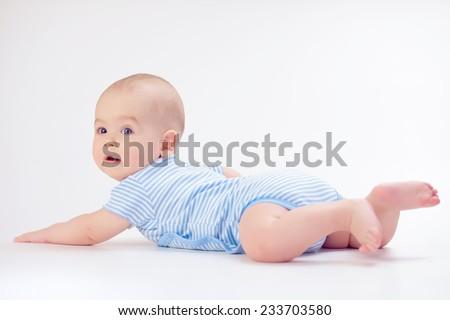 Baby lying - stock photo