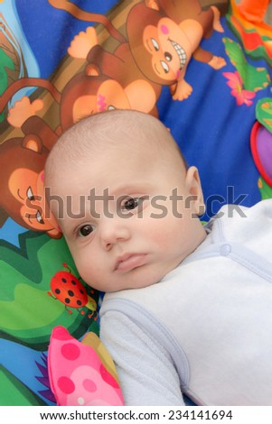 baby on a colored background