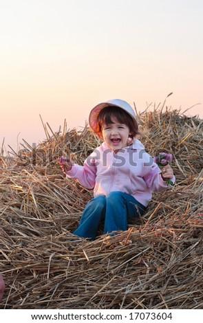 baby outdoor - stock photo