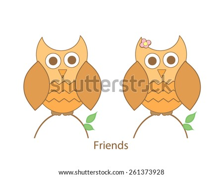Baby Owls - stock photo