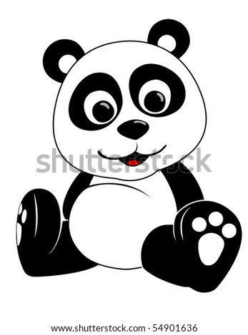 Baby Panda Illustration on a white background