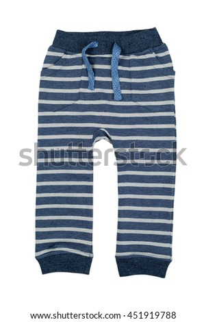 Baby pants. Isolate on white - stock photo