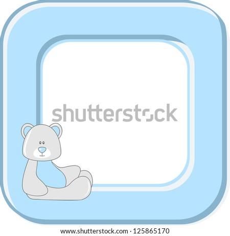 Baby photo frame. Raster version, vector file available in portfolio. - stock photo