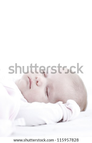 baby pictures of several weeks to three months old - stock photo