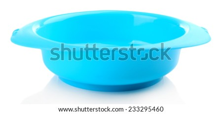 Baby plate isolated on white - stock photo