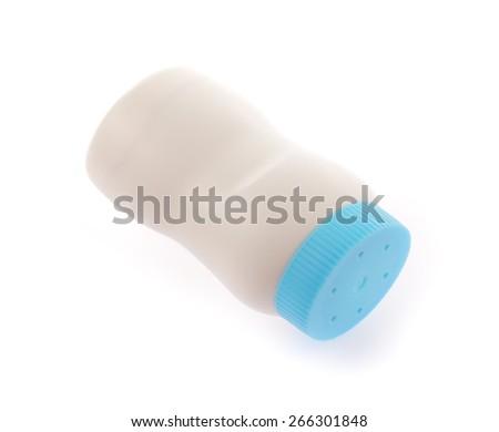 Baby Powder isolated on white background - stock photo