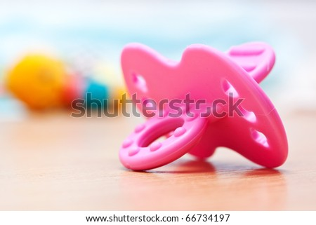 baby's dummy - stock photo