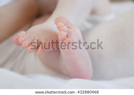 Baby's feet, close up