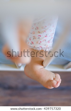 Baby's foot closeup