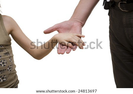 Baby's Hand Being Held by Father