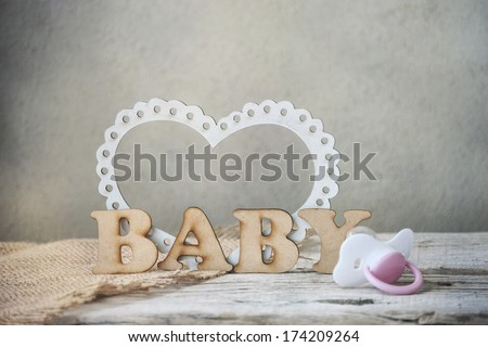 baby's pacifier - stock photo