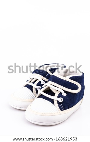 Baby shoe on isolated white background