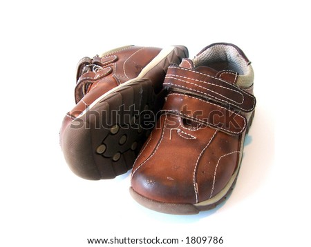 Baby shoes as worn by little children