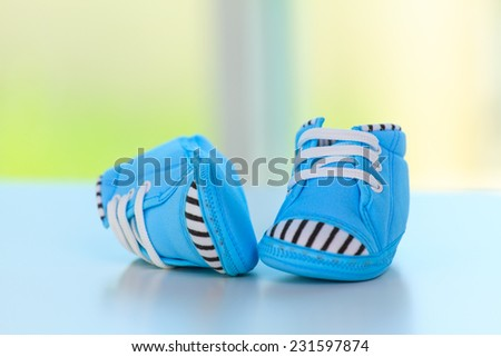 Baby shoes, baby concept - stock photo