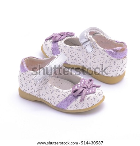 baby shoes for girl isolated on white