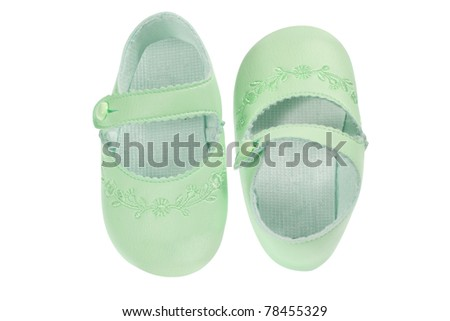 Baby Shoes on White Background