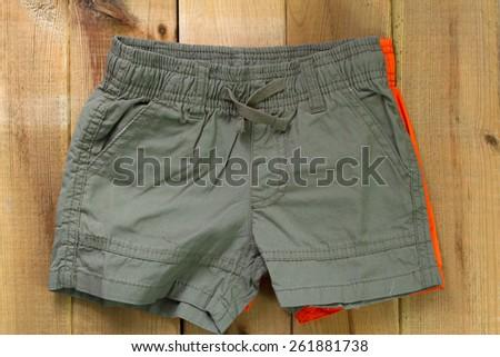 baby shorts - stock photo