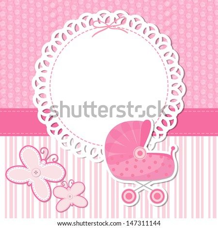 Baby Shower Announcement raster image