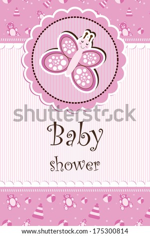 baby shower - girl - stock photo