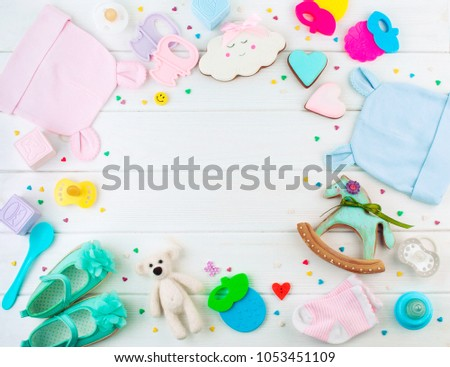 Baby Shower Party Background Frame Baby Stock Photo (Edit Now ...