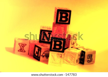 Baby Toy Blocks With Color and Blur