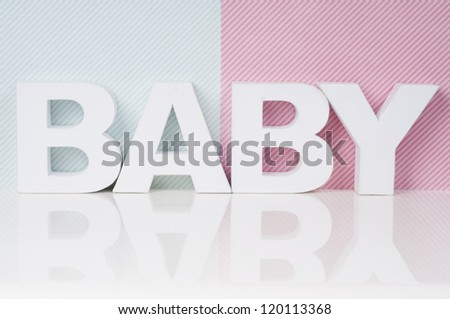 baby wallpaper in pink and blue - stock photo