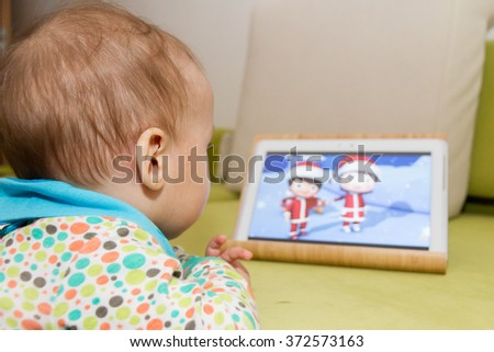 baby watching cartoons