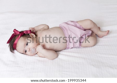 Baby with red Bow