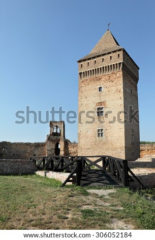 Bac, medieval fortress in Serbia, Vojvodina completed in 14th century, destroyed in 18th century - stock photo