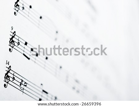 Bacground music.Note pad.abstract - stock photo