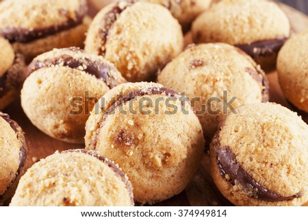 Baci di dama in close up, horizontal image - stock photo