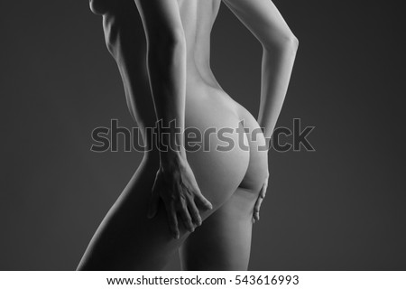 back butt naked women naked woman stock photo (royalty free