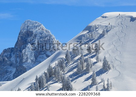 back-country in wyoming - stock photo