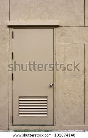 back door modern style. - stock photo