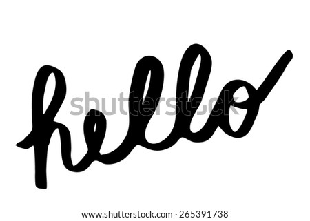 back handwritten hello symbol - stock photo