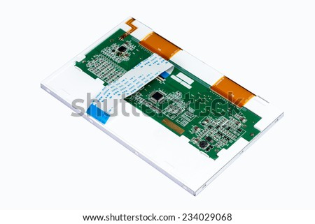Back LCD Display on White background