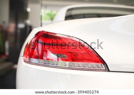 Back light of sport car - stock photo