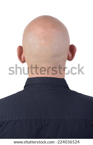 Back of a man's bald head - stock photo