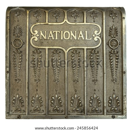 Back of a National cash register - stock photo