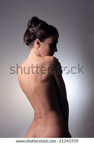 back of a  woman - stock photo