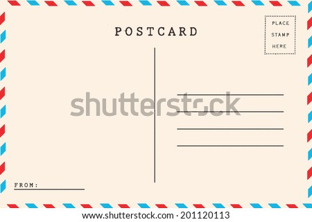 Back Airmail Blank Postcard Stock Photo 201120113 - Shutterstock