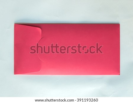 Back of Classic Pastel Pink Envelope with Copy Space to input Text for Wedding Invitation on White Background