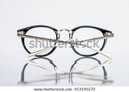 Back of fashion eyeglasses - stock photo