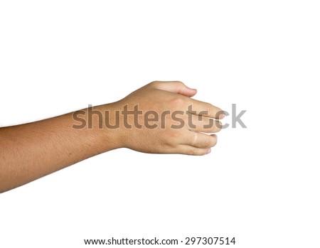 back of hand isolated on white background - stock photo