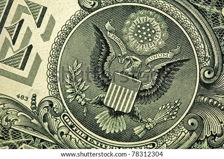 Back of one dollar bill - stock photo
