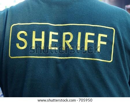 Back of Sheriff Jacket - stock photo