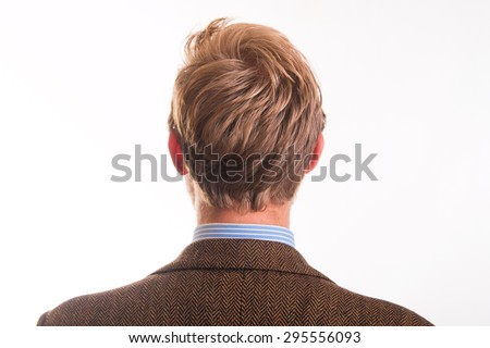 Back of the head and the hair of a young man - studio shots